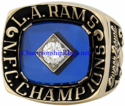 "Picture of 1979 Los Angeles Rams ""N.F.C."" Champions 10K Gold and Diamond Player's Ring"