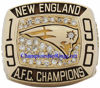 "Picture of 1996 New England Patriots ""A.F.C."" Champions 10K Gold, with Diamonds, Player's Ring"