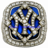 "Picture of 2009 New York Yankees ""World Series"" Champions 14K White Gold, with Diamonds, Staff Member's Ring"
