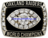 "Picture of Bill King's 1976 Oakland Raiders ""Super Bowl XI"" Champions 14K White Gold, with Diamonds, Team Broadcaster's Ring and Original Wood Presentation Box"