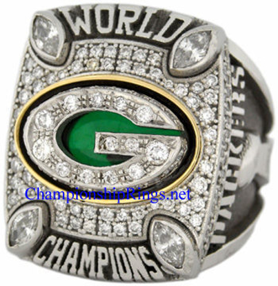 "Picture of 2010 Green Bay Packers ""Super Bowl XLV"" Champions Platinum, with Diamonds, Player's Ring and Original Wood Presentation Box"